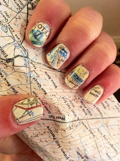 Made from a Map: Maps on Your Nails!