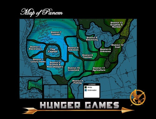 Maps of Panem: the Hunger Games