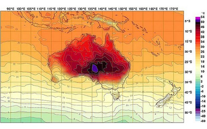 Australian Heat Wave Forces Experts to Redesign Temperature Maps